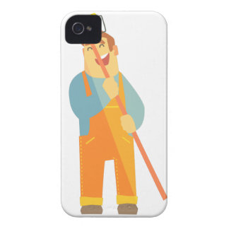 Builder With Painting Roll On Construction Site iPhone 4 Case
