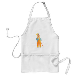 Builder With Painting Roll On Construction Site Standard Apron