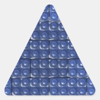 Builder's Bricks - Blue Triangle Sticker
