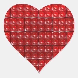 Builder's Bricks - Red Heart Sticker