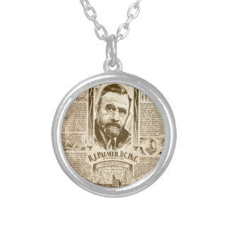builders of america silver plated necklace
