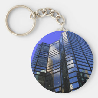 Building-11 Basic Round Button Key Ring