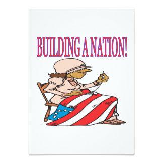 Building A Nation 13 Cm X 18 Cm Invitation Card