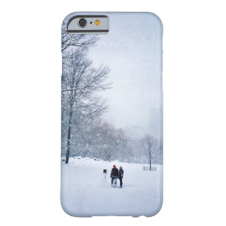 Building A Snowman In Central Park Barely There iPhone 6 Case