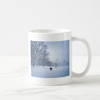 Building A Snowman In Central Park Coffee Mug