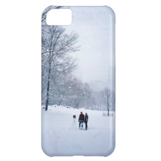 Building A Snowman In Central Park iPhone 5C Case