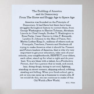 Building America Democracy Poster