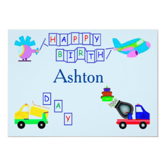 Building Birthday Party Card