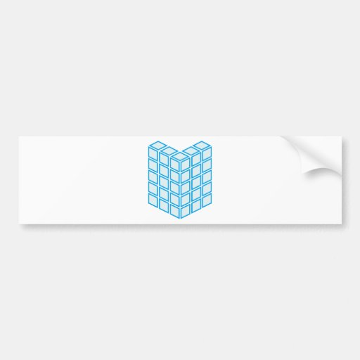 Building block bumper stickers