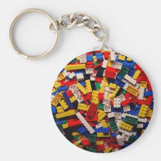 Building Blocks Basic Round Button Key Ring