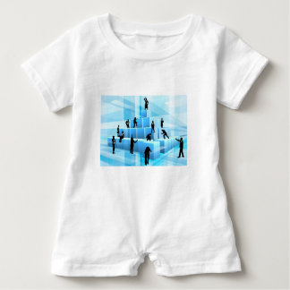Building Blocks Business Team People Silhouettes Baby Bodysuit