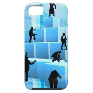 Building Blocks Business Team People Silhouettes iPhone 5 Cover