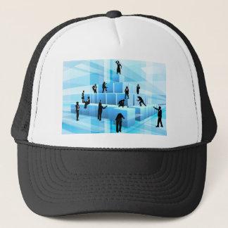 Building Blocks Business Team People Silhouettes Trucker Hat