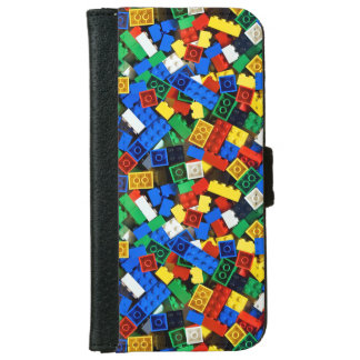 "Building Blocks Construction Bricks ""Construction iPhone 6 Wallet Case"