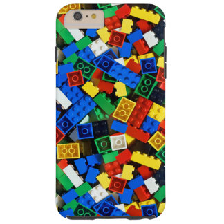 """Building Blocks Construction Bricks """"Construction Tough iPhone 6 Plus Case"""