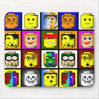 Building Blocks Heads mousepad