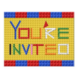 Building Blocks Invitation in Primary Colors