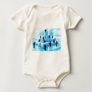 Building Blocks Silhouette Business Team People Baby Bodysuit