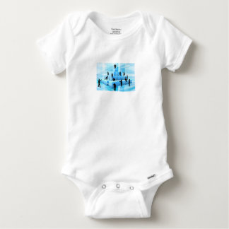 Building Blocks Silhouette Business Team People Baby Onesie