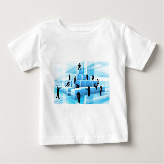 Building Blocks Silhouette Business Team People Baby T-Shirt