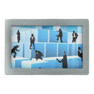 Building Blocks Silhouette Business Team People Belt Buckles