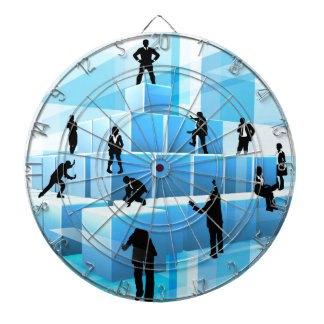 Building Blocks Silhouette Business Team People Dartboard