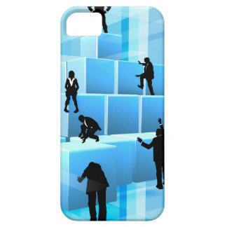 Building Blocks Silhouette Business Team People iPhone 5 Cover
