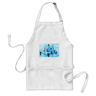 Building Blocks Silhouette Business Team People Standard Apron