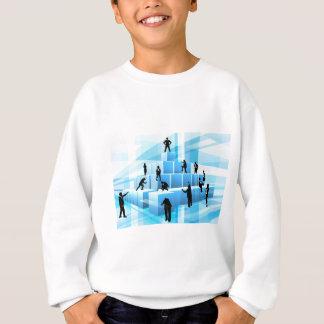 Building Blocks Silhouette Business Team People Sweatshirt