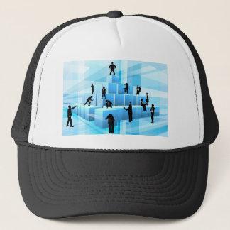Building Blocks Silhouette Business Team People Trucker Hat