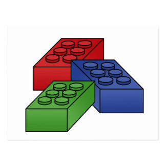 Building Blocks - Vector Illustration Post Cards