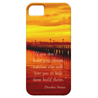 Building dream hope quote sunset background iPhone 5 cover