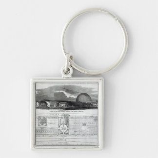 Building for the Great Industrial Exhibition Key Chain