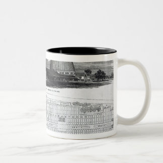 Building for the Great Industrial Exhibition Two-Tone Mug