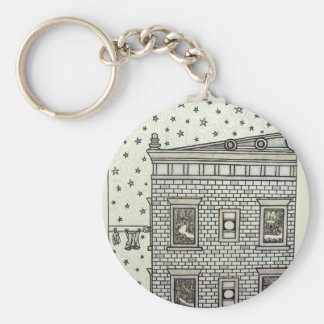 Building Inking by Piliero Basic Round Button Key Ring