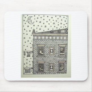 Building Inking by Piliero Mouse Pad