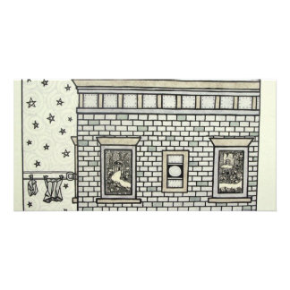 Building Inking by Piliero Photo Card