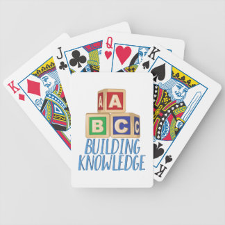 Building Knowledge Bicycle Playing Cards