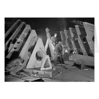 Building Liberty Ships, 1941 Greeting Card