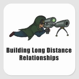 building long distance relationships square sticker