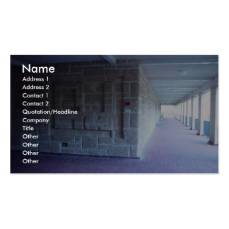 Building Map Engraved Into Limestone Wall Of Unive Pack Of Standard Business Cards