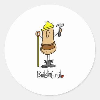 Building Nut Classic Round Sticker