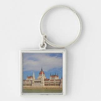 Building od the Budapest parliament, Hungary Silver-Colored Square Key Ring