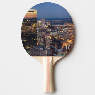 Building of Boston with light trails on road Ping Pong Paddle