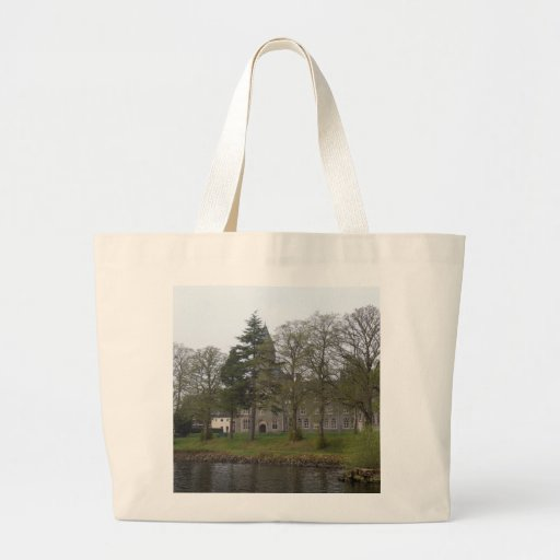 Building of St Benedict Abbey at the shore Canvas Bag
