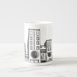 Building robots bone china mug
