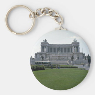 Building, Rome Basic Round Button Key Ring
