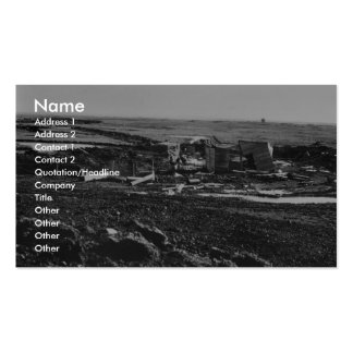 Building ruins on Amchitka Island Business Card