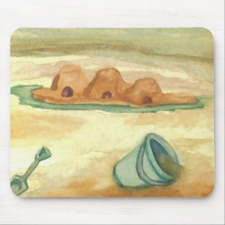 Building Sand Castles CricketDiane Art & Design Mousepad