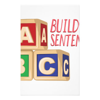 Building Sentences Custom Stationery